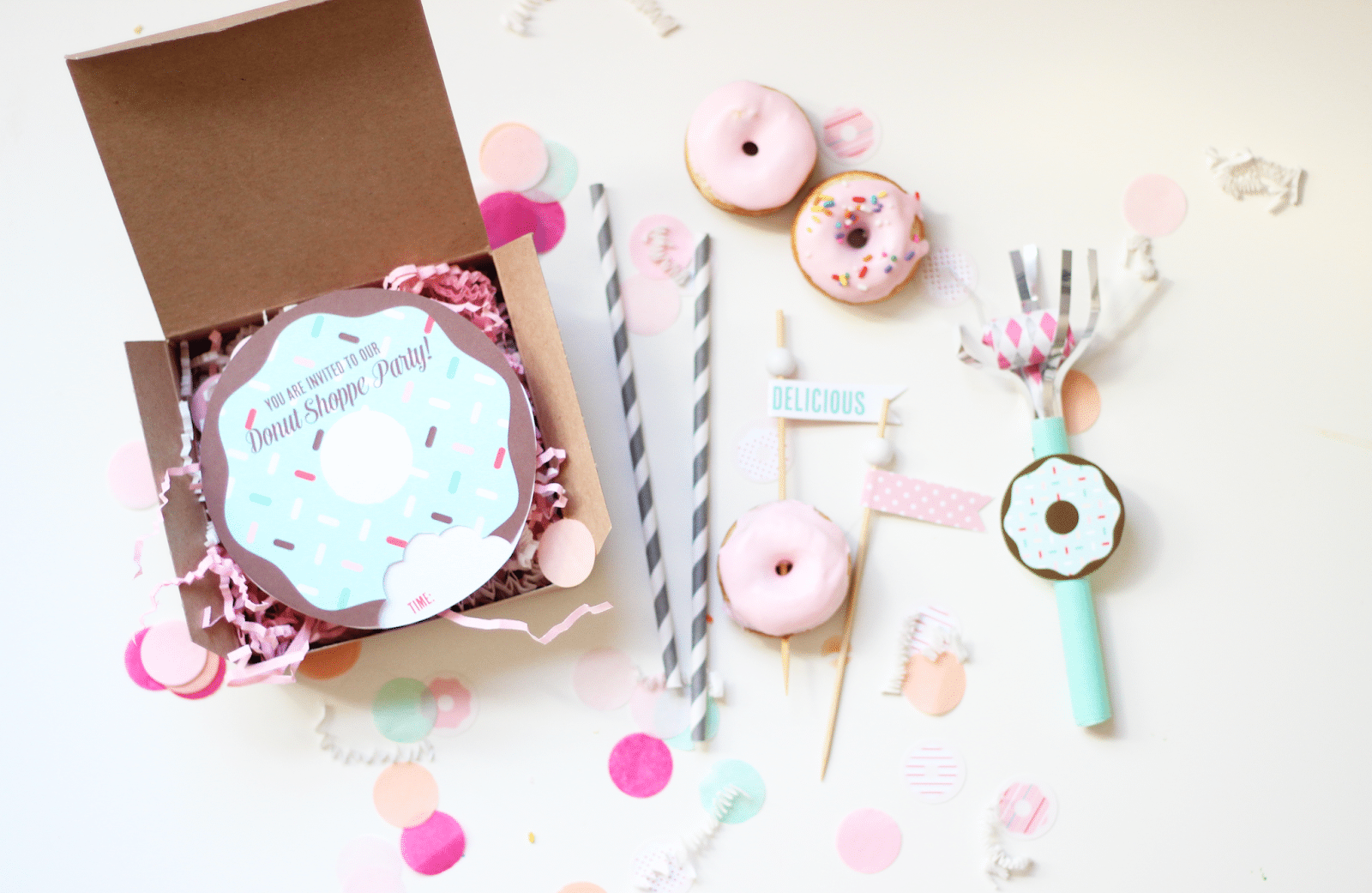 Bright & Bold  Donut Party
