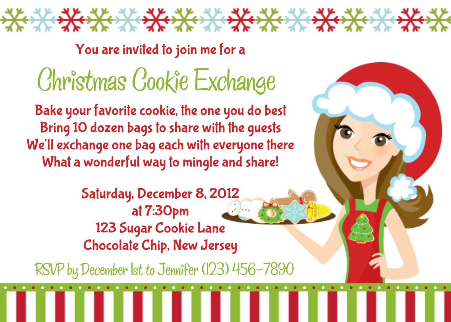 Christmas Cookie Swap Invitations   Telefora Coupons