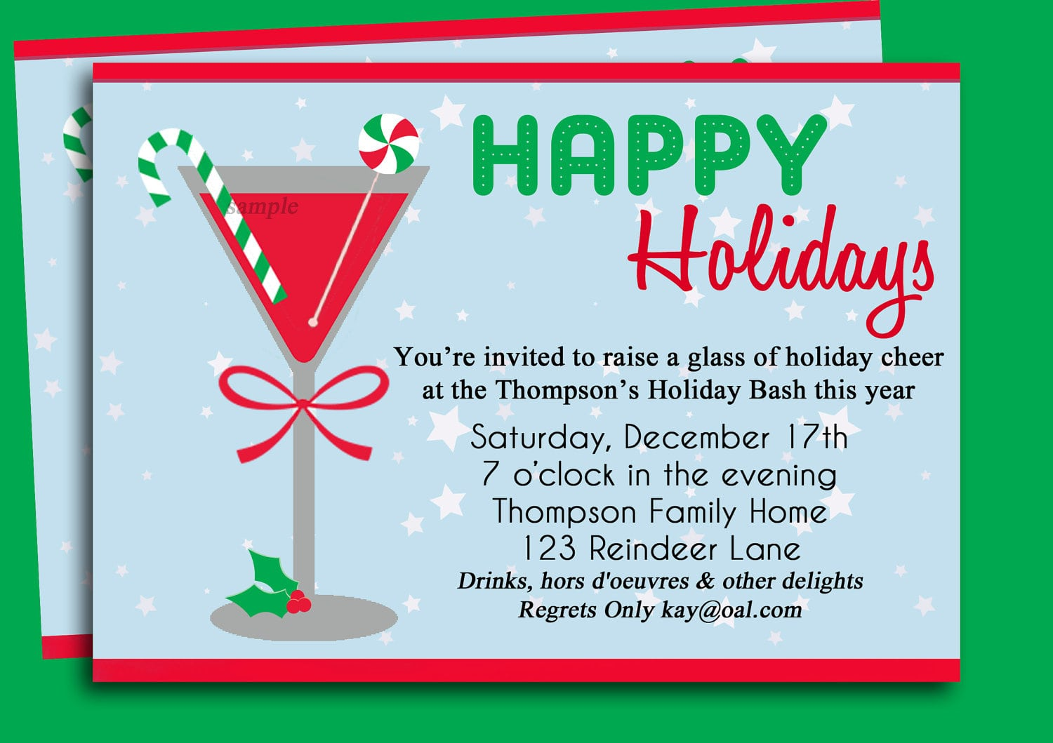 Cocktail Party Invitation Ideas Christmas Cocktail Party Invites