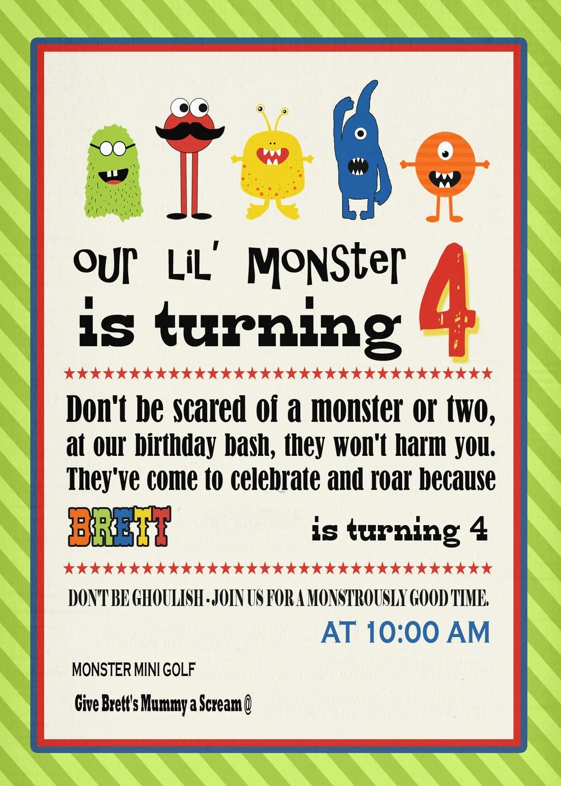 Cut Copy & Paste  Monster Birthday Party