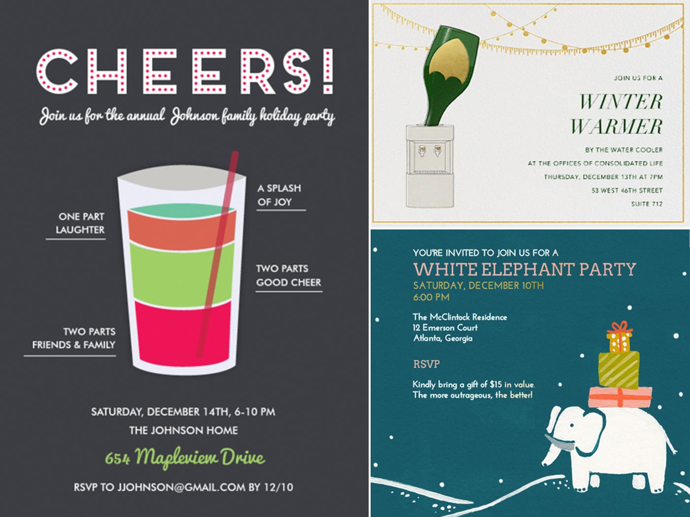 Digital Party Invitations For The Holidays
