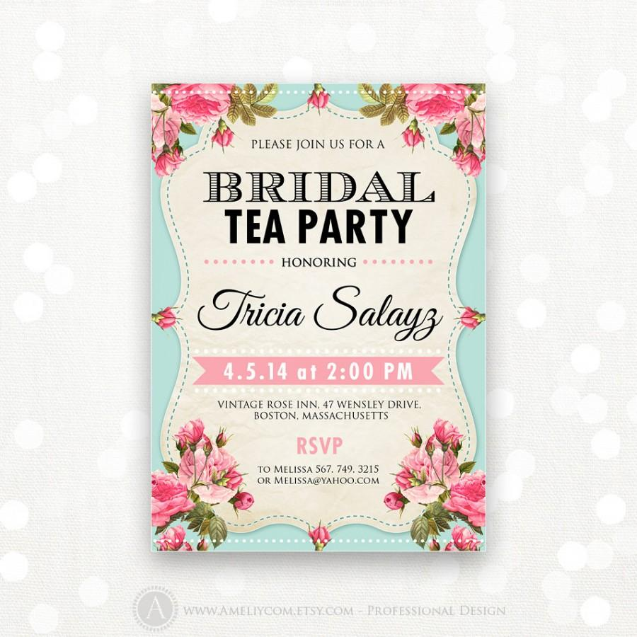 Diy Digital Printable Alice In Wonderland Vintage Tea Party