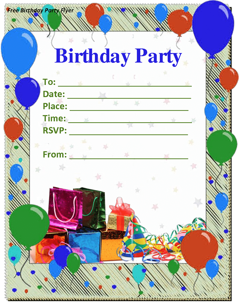 Doc  648568  Birthday Party Invitation Template Word – Birthday