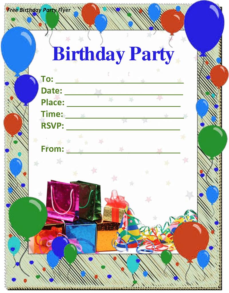 Doc  648568  Birthday Party Invitation Template Word – Birthday