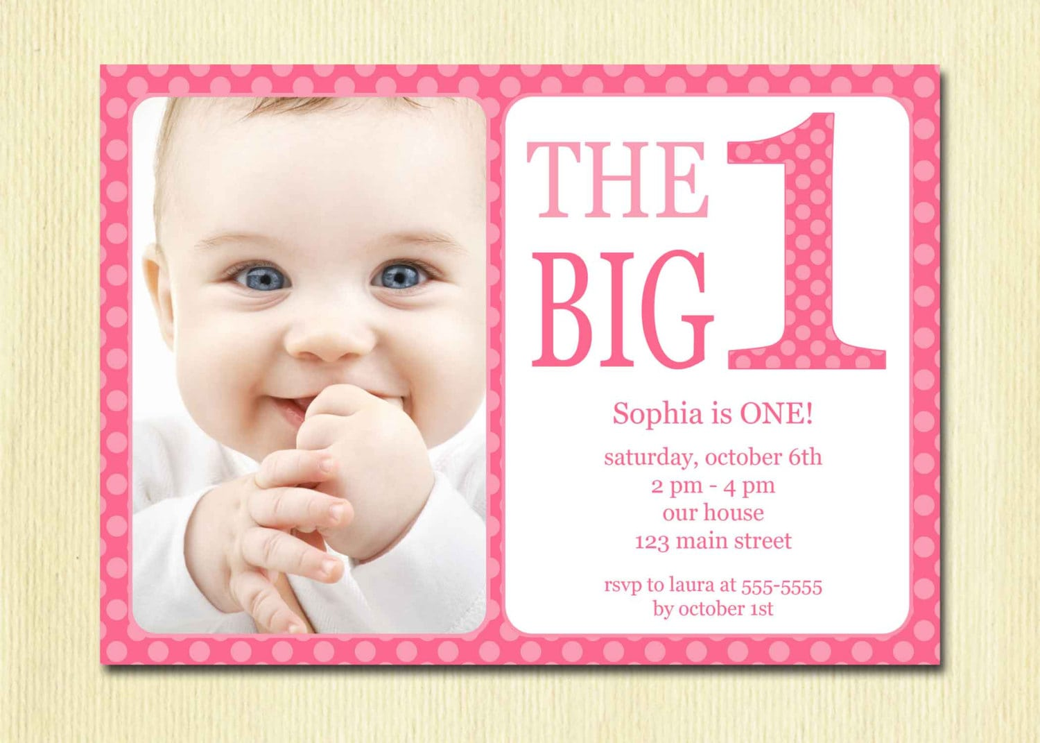 First Birthday Party Invitation Ideas About First Birthday Party