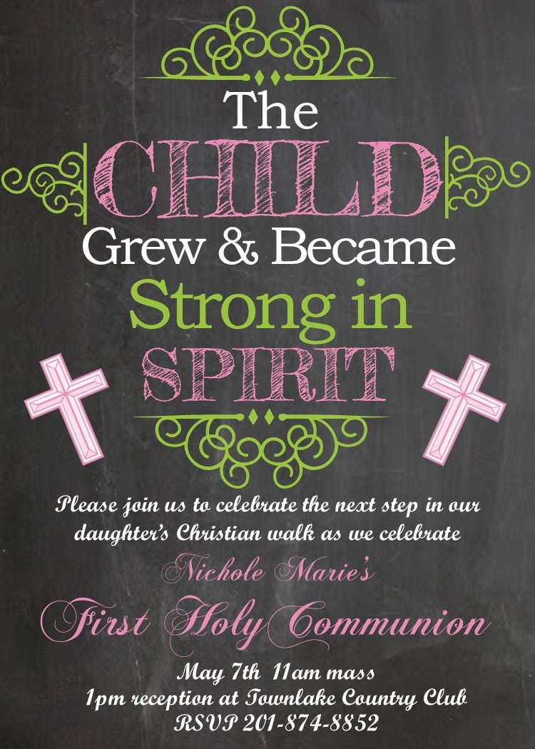 First Communion Party Invitations New Designs For 2017