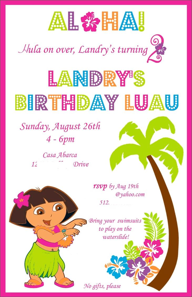 Free Hawaiian Party Invitations Printable Wedding Invitation