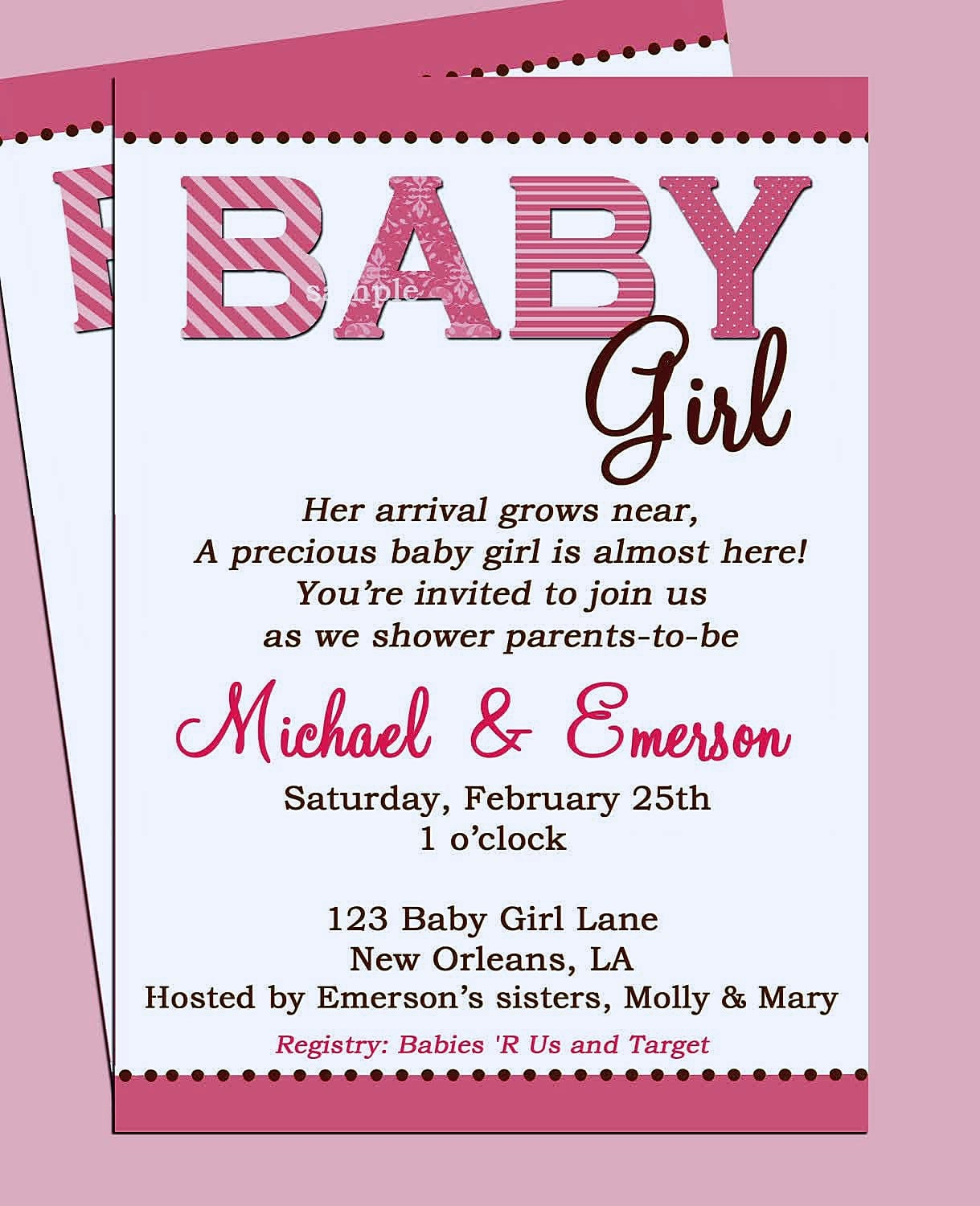 Gift Card Baby Shower Invitation Wording