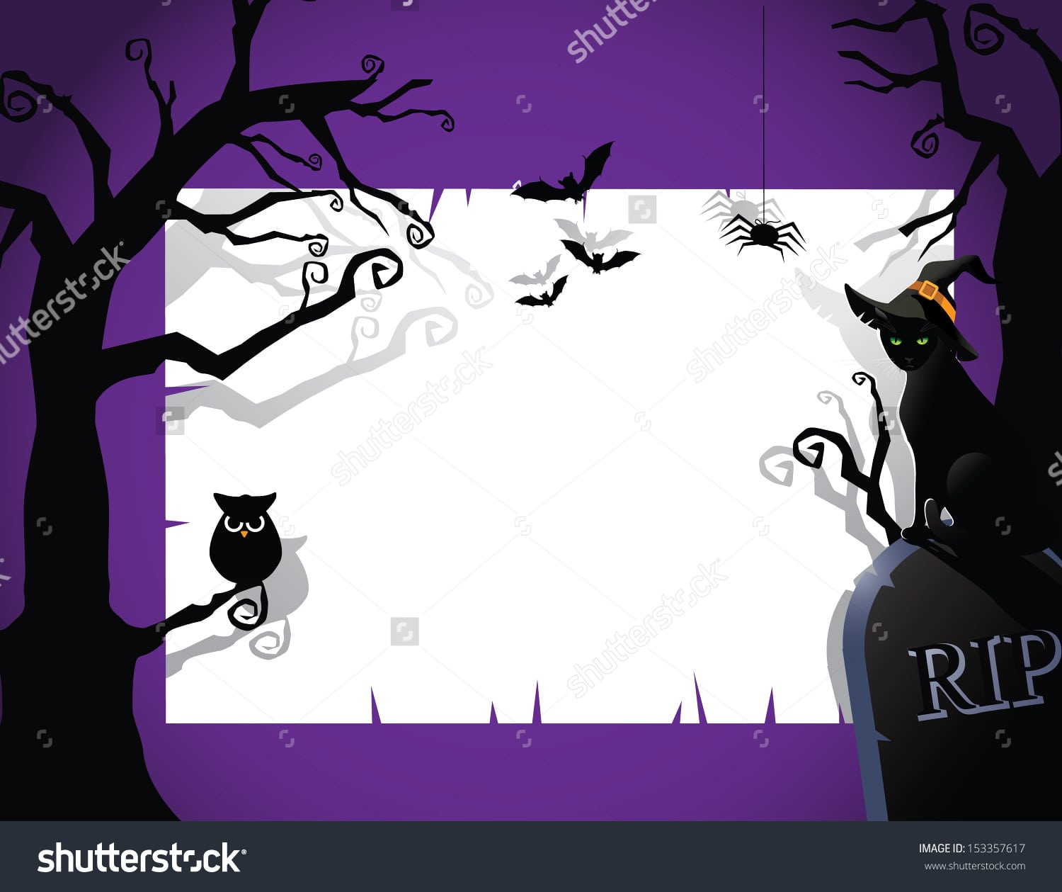 Halloween Party Invitation Background Eps 10 Stock Vector