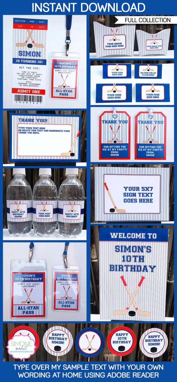Hockey Party Invitations & Decorations