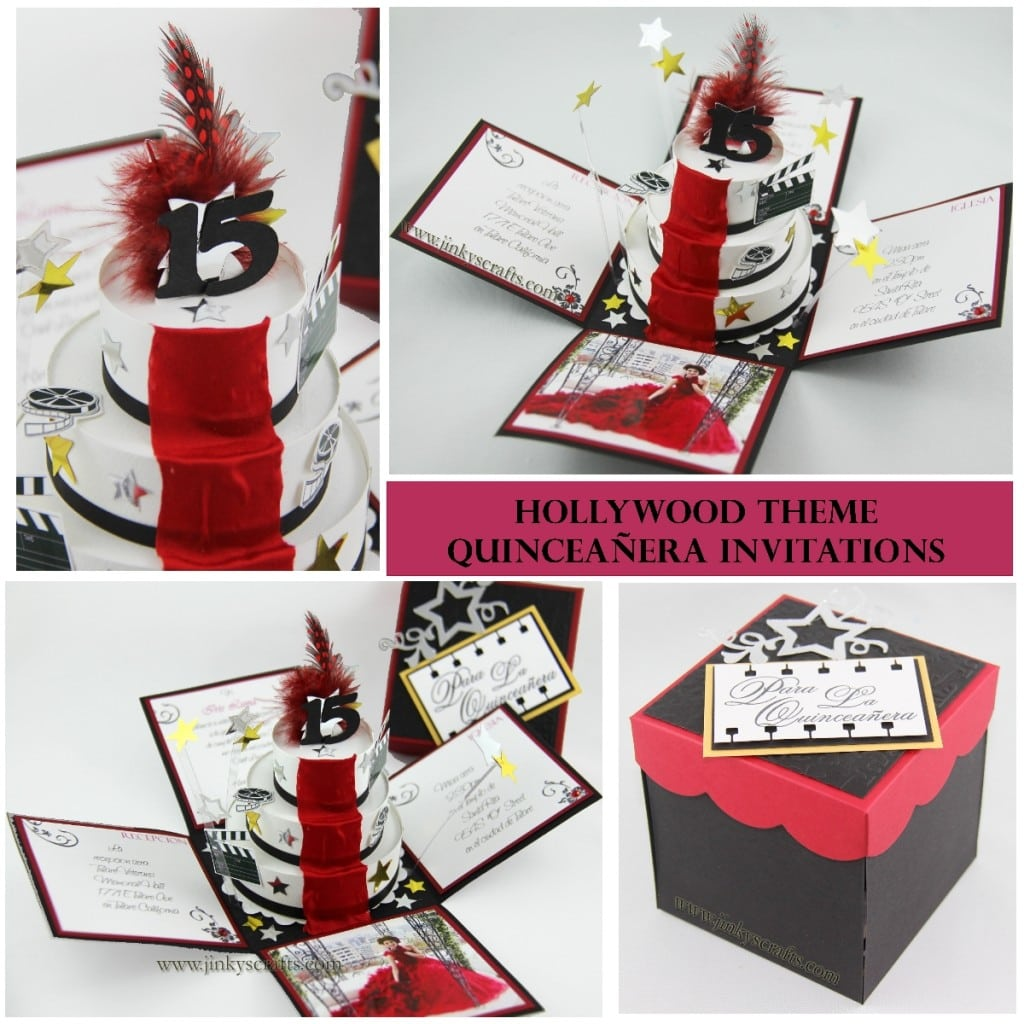 Hollywood Theme Exploding Box Invitations