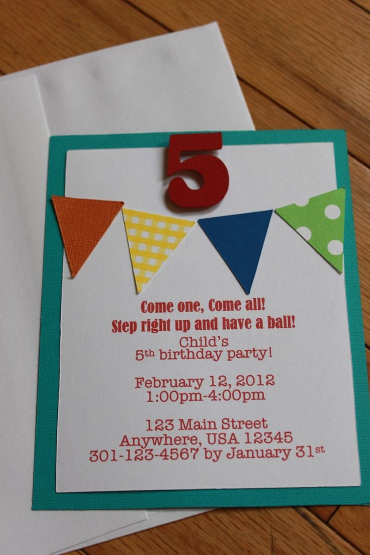 Homemade Birthday Party Invitation Ideas Diy Birthday Party