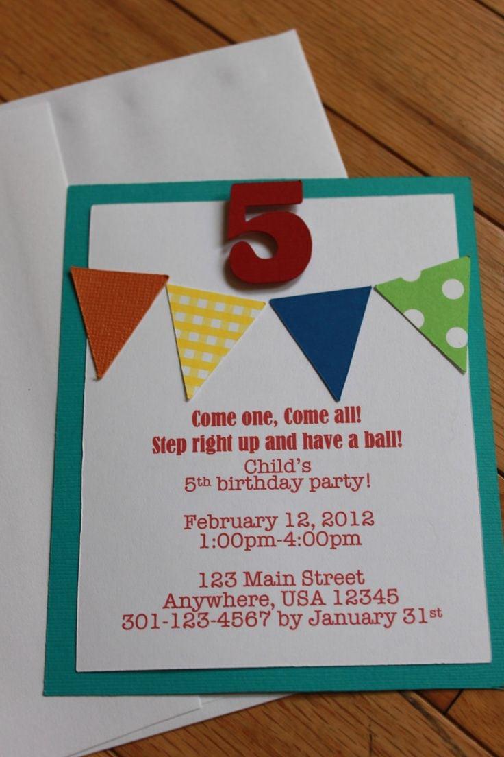 Homemade Birthday Party Invitation Ideas Diy Birthday Party