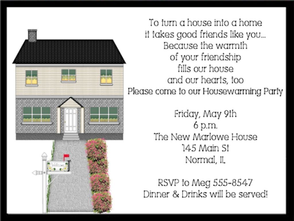 Housewarming Party Invitation Wording Funny