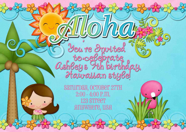 Hula Party Invitations Christmas Party Invitations Wording Baby
