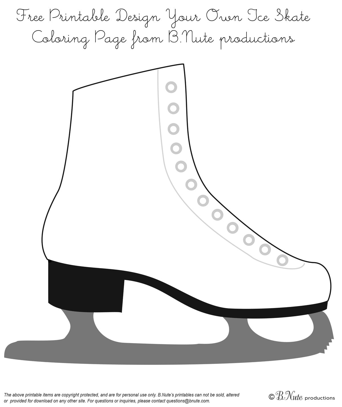 Ice Skating Party Invitations Free Printable
