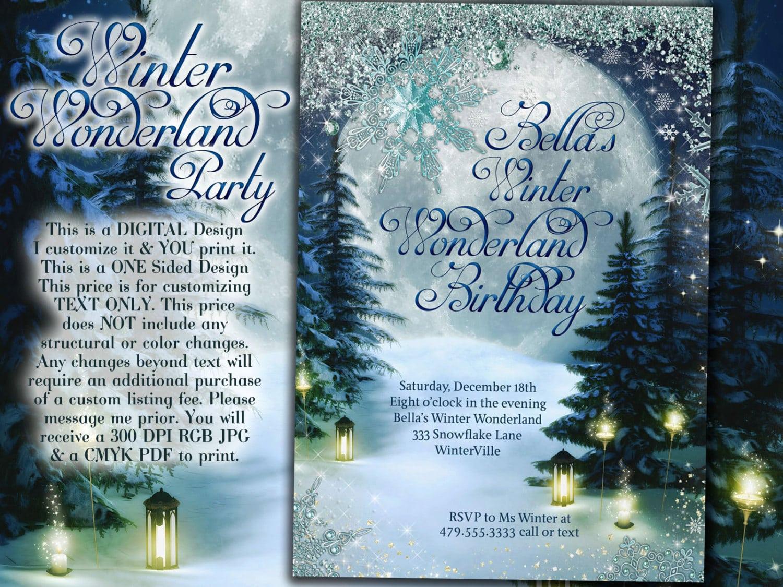 Invitation  Winter Party Invitation Template