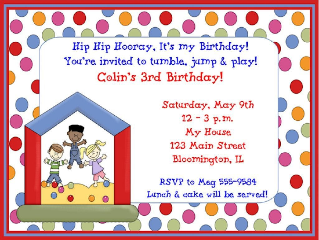 Invitation For Kids Birthday Party Alluring Invitation For Kids