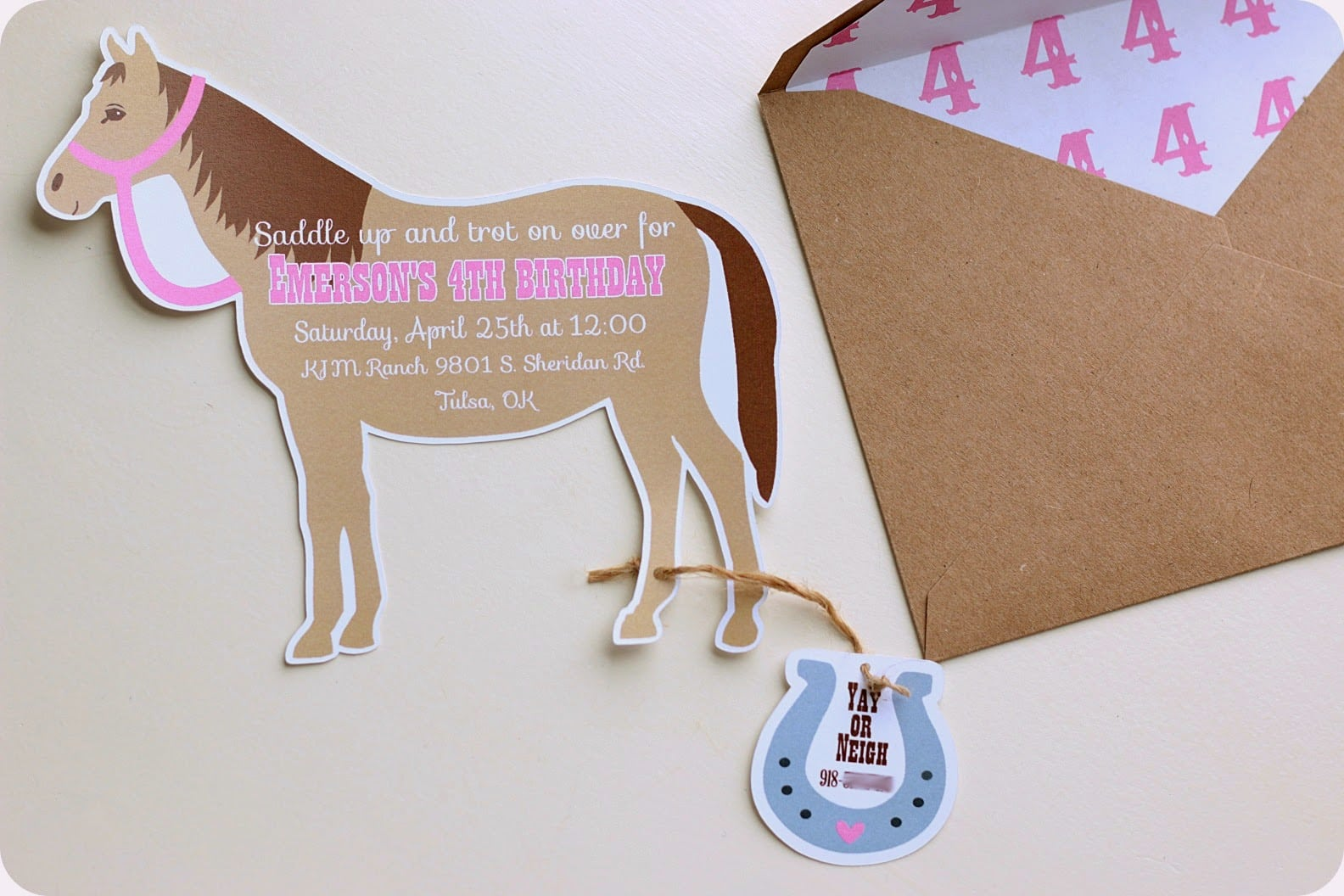 Keeping My Cents ¢¢¢  Cowgirl Pony Party Invitations