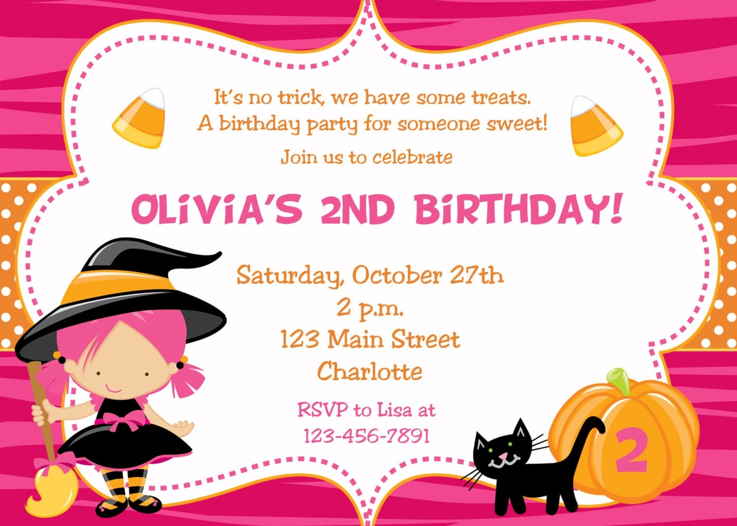 Kids Halloween Party Invitation