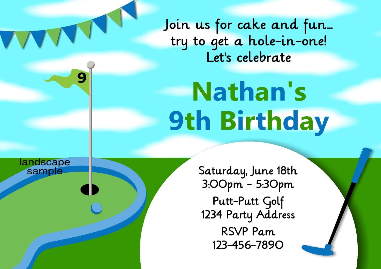 Miniature Golf Invitation Mini Golf Birthday Party Invites