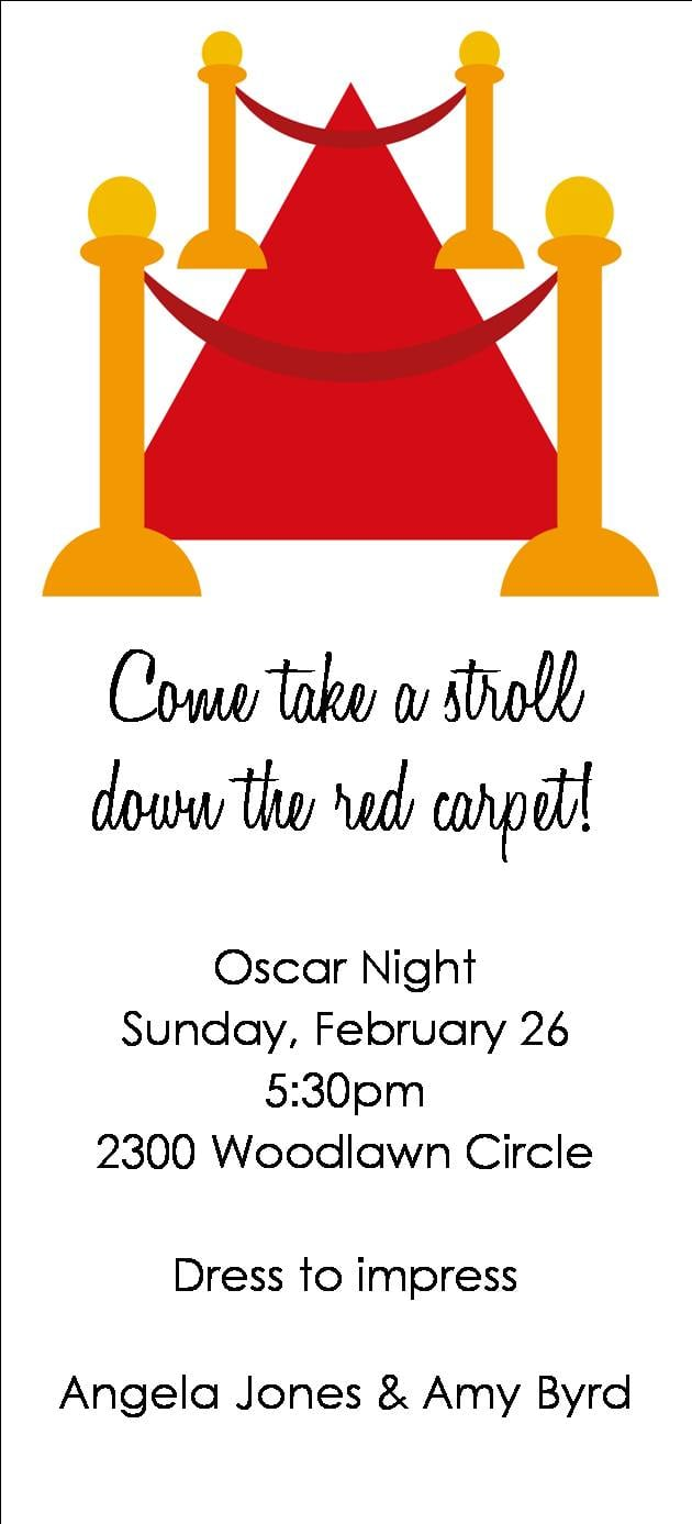 Oscar Party Invitation Wording - Mickey Mouse Invitations Templates