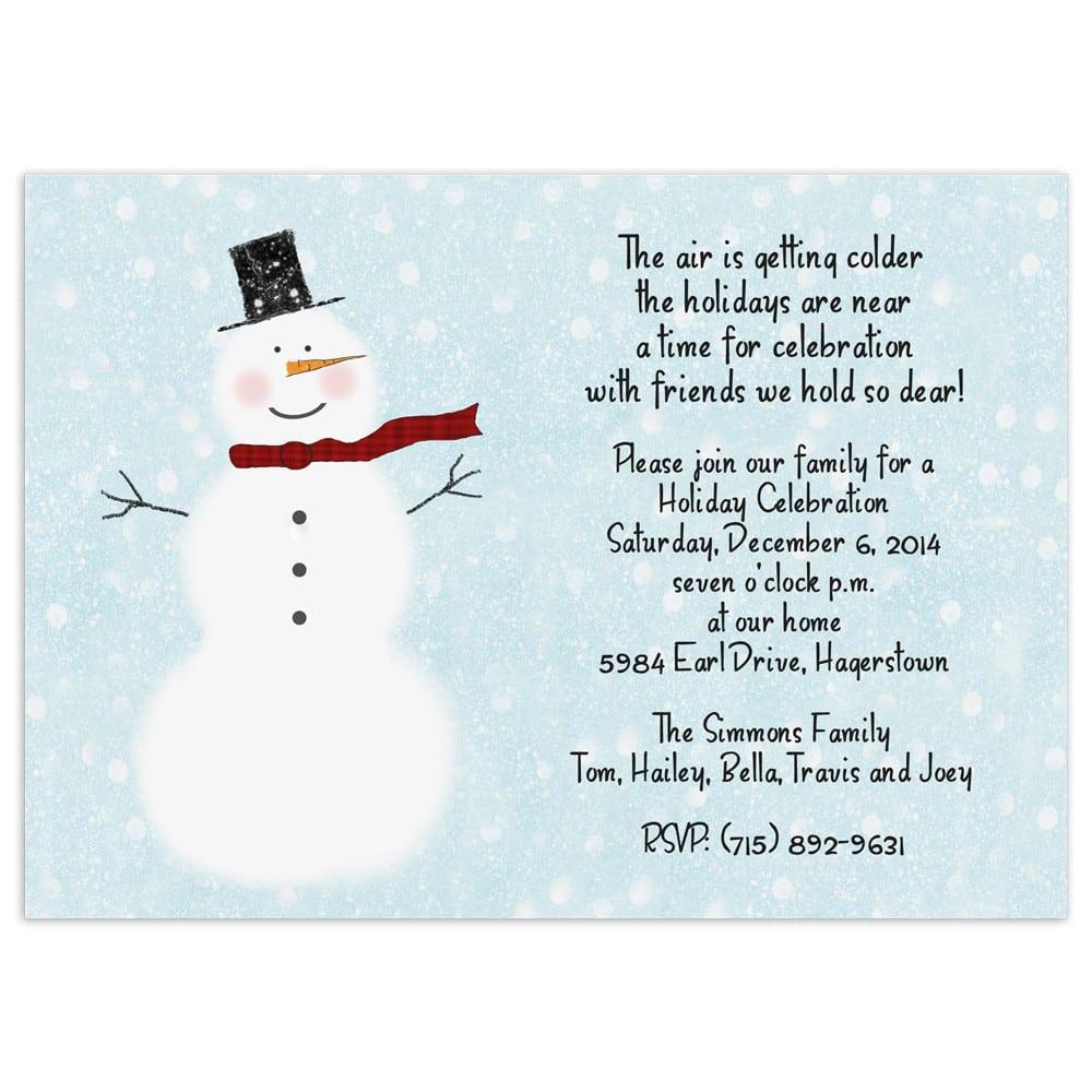 Printable Christmas Party Invitation Template