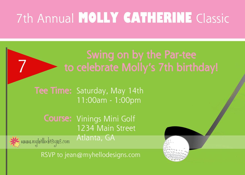 Printable Golf Party Invitation