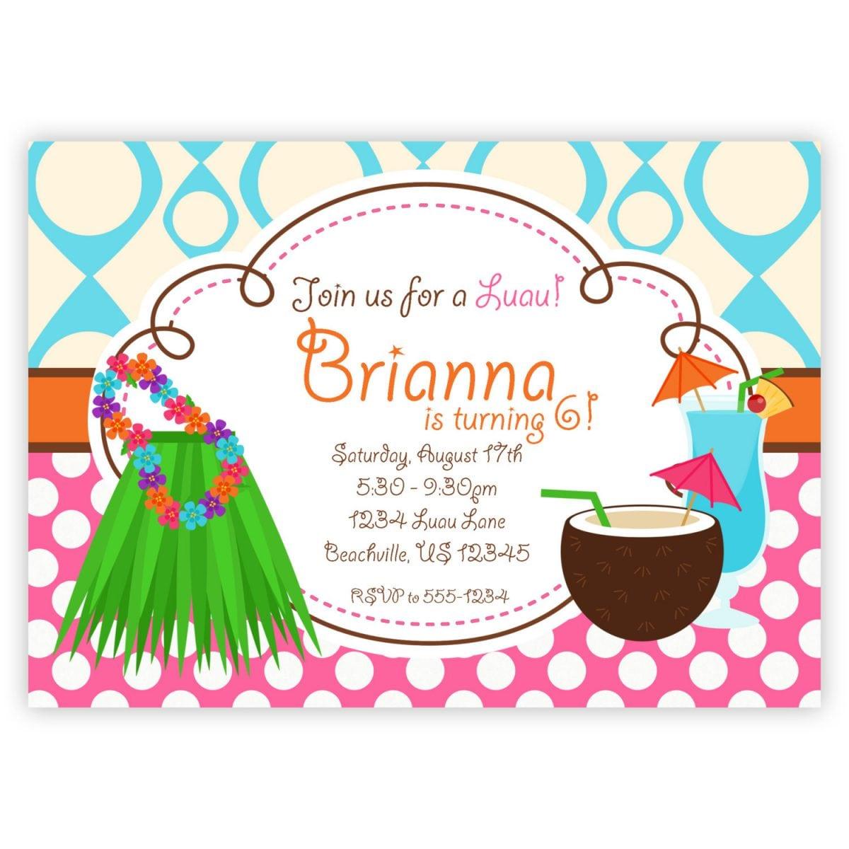 Printable Hawaiian Wedding Invitations  Hawaiian Wedding