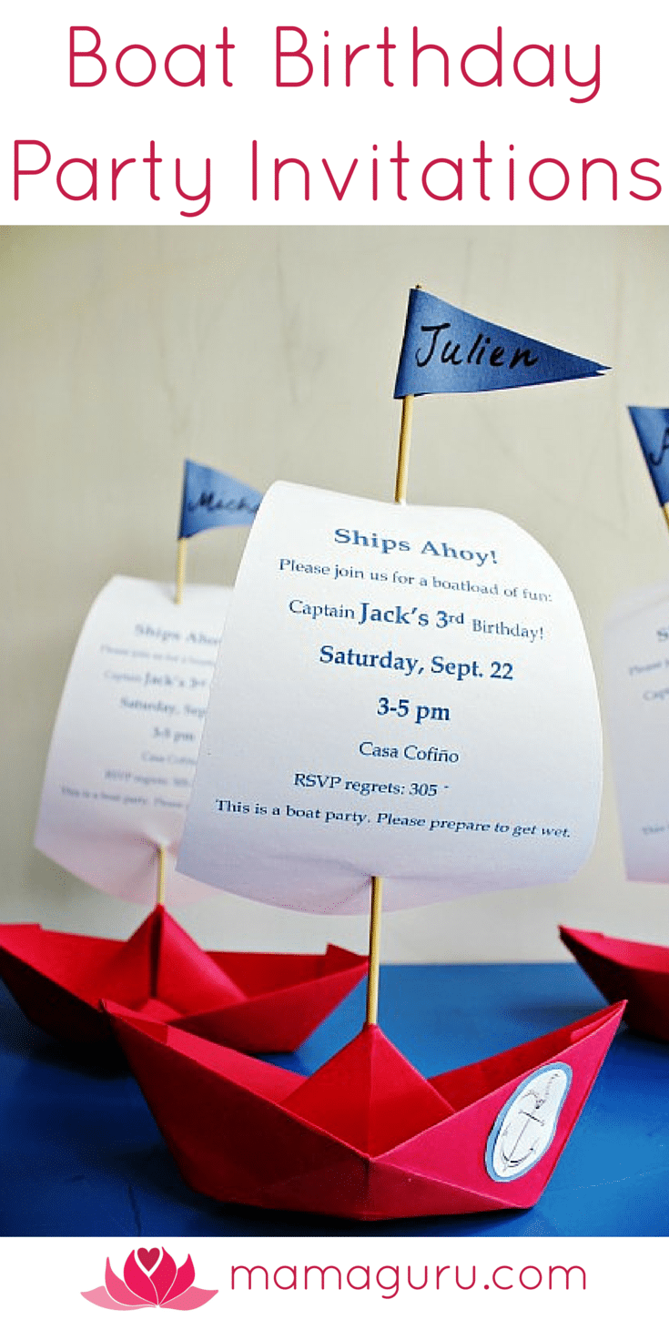Spectacular Boat Party Invitations