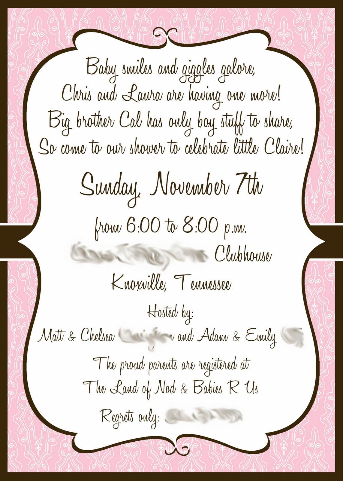 Wedding Invitations Wording Spanish  Baby Shower Invitations In