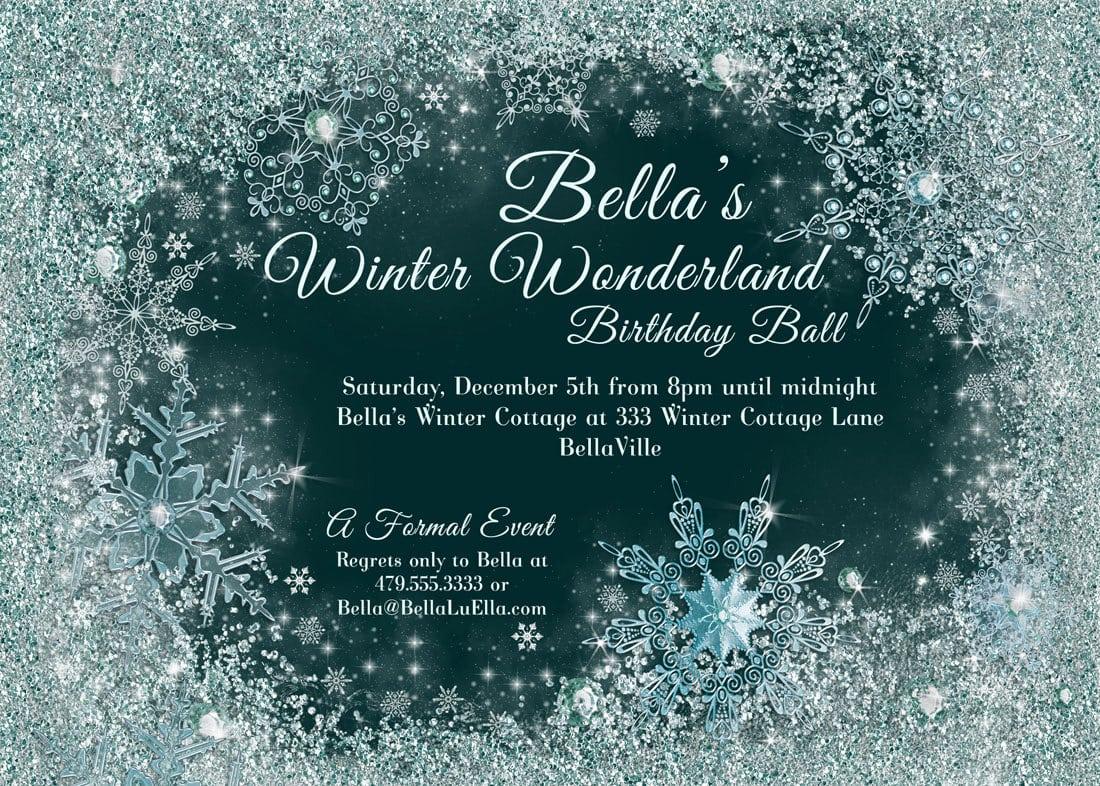 Winter Wonderland Invitation Template Theme Winter Baby Shower