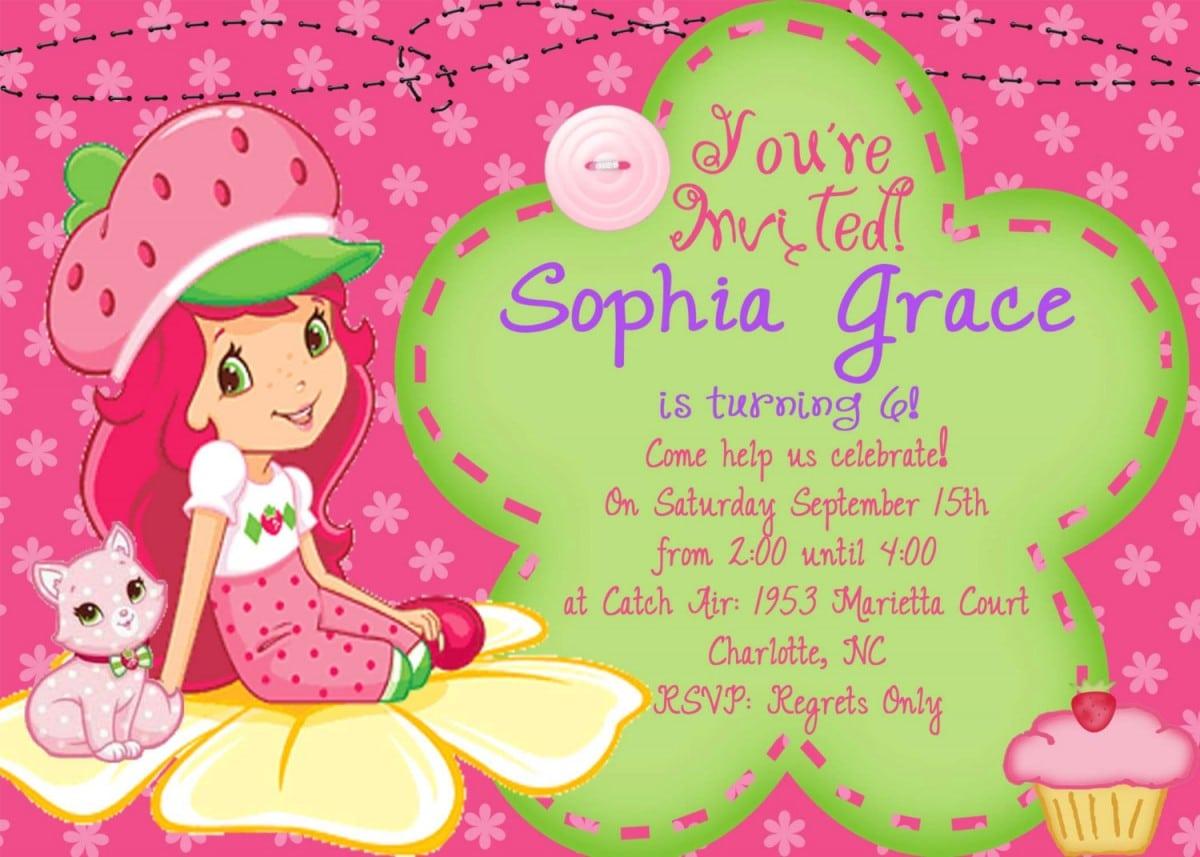 Wonderful Kid Birthday Party Invitations
