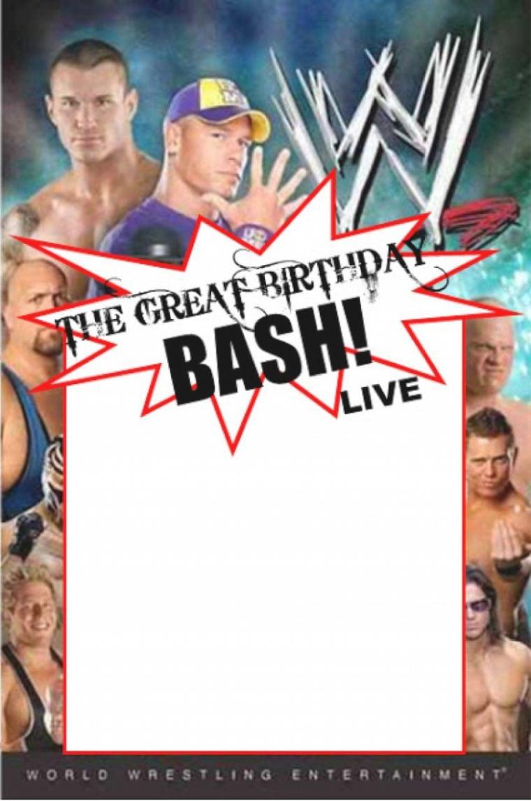 Wwe Birthday Party Invitations – Invitation Sample