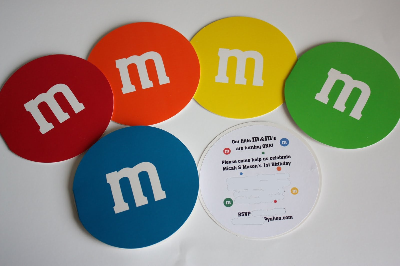 M&m Party Invitations