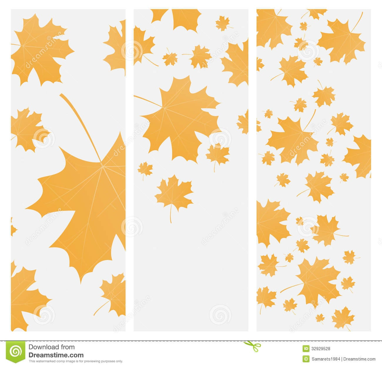 Autumn Template Flyer Or Invitation Stock Vector