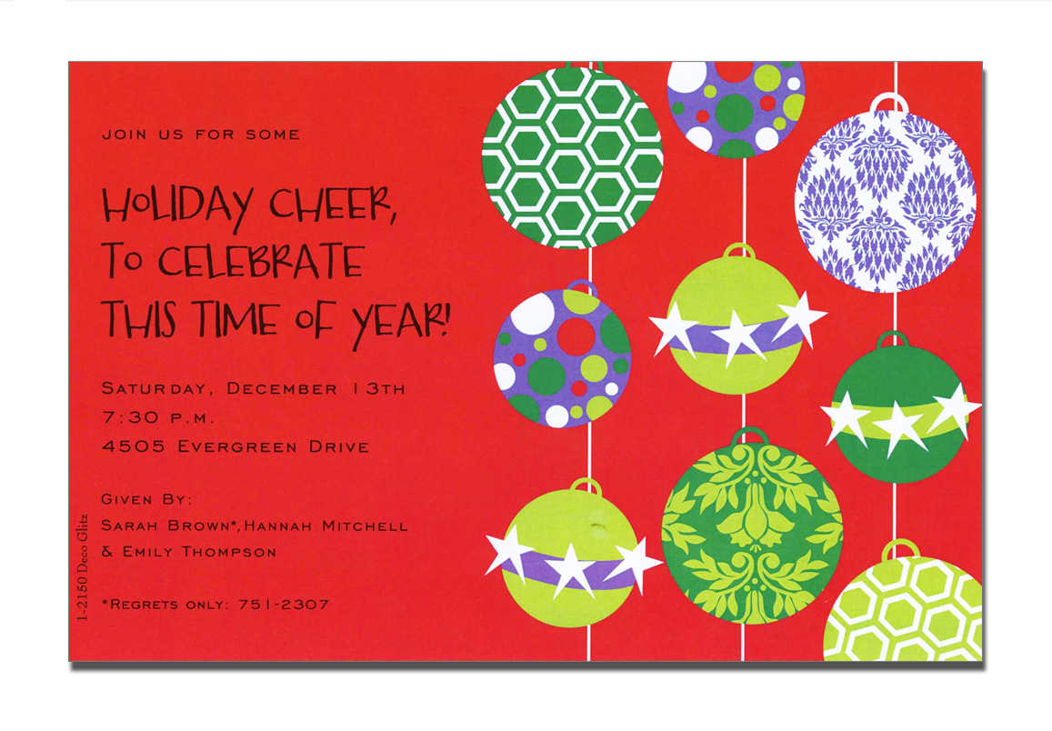 Christian Christmas Party Invitation Templates – Fun For Christmas