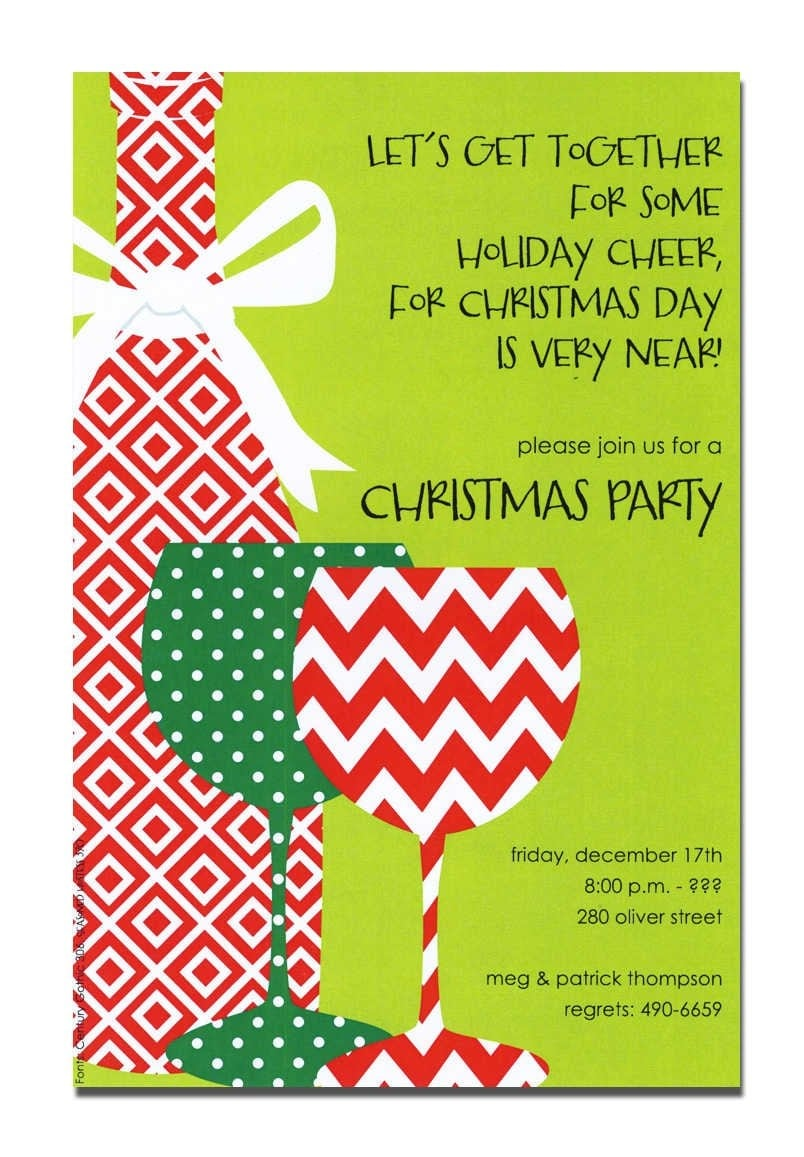Christmas Drinks Party Invitations Uk