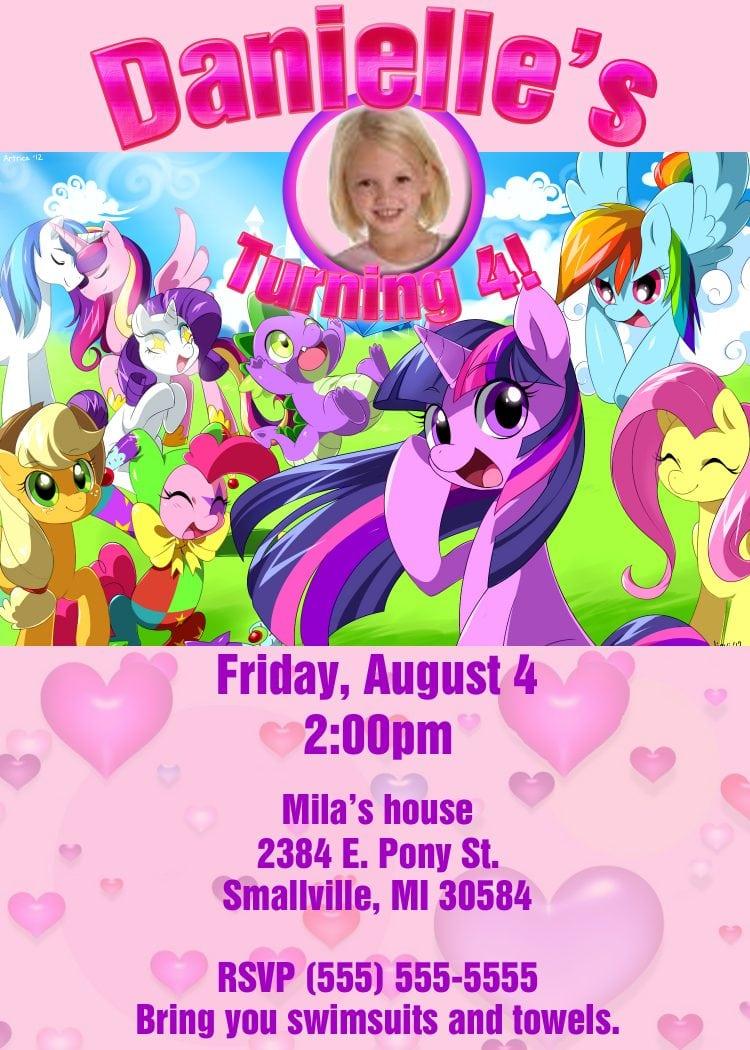 Lego Friends Birthday Party Invitations