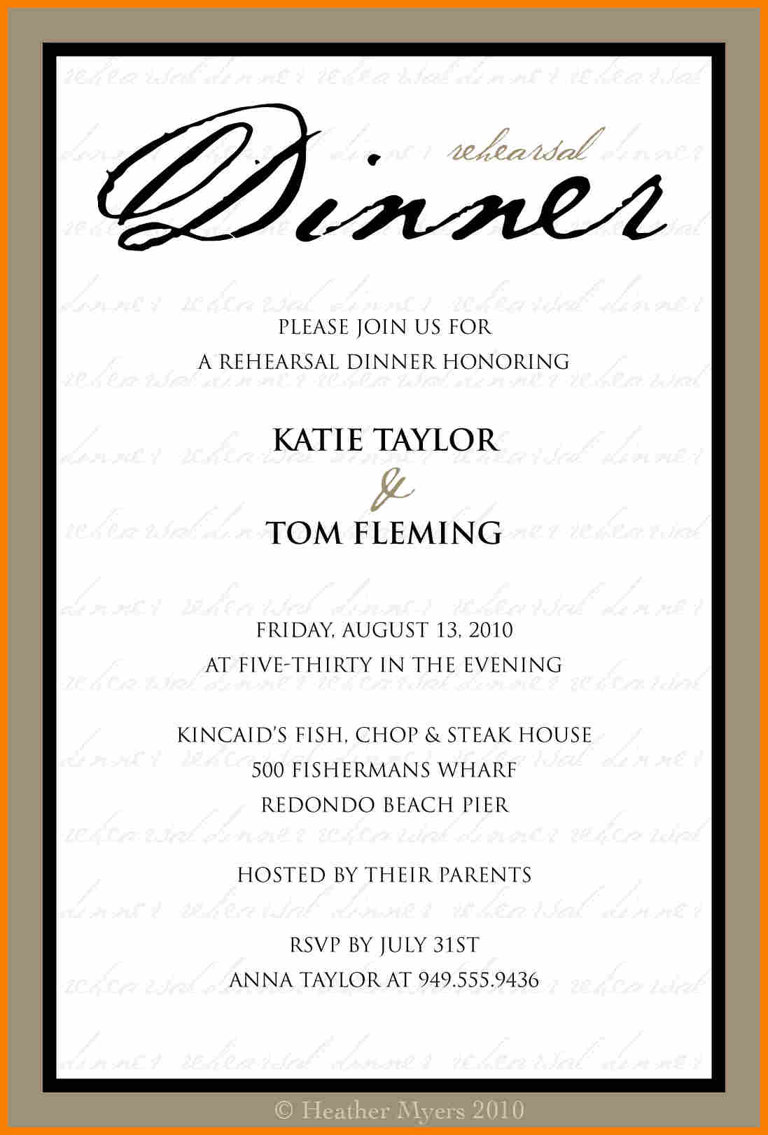 Formal Dinner Party Invitations
