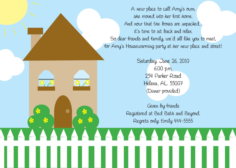 Housewarming Party Invitation Ideas