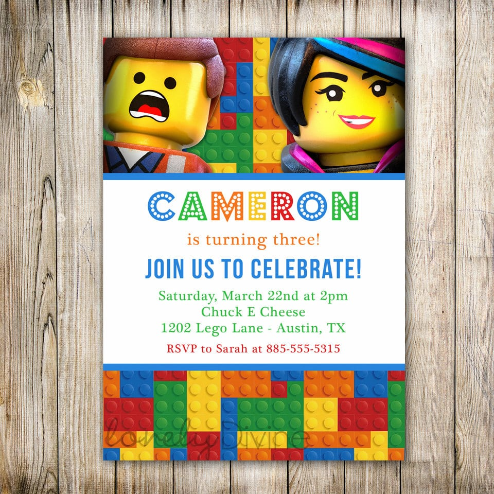 Lego Movie Party Invitations - Mickey Mouse Invitations Templates