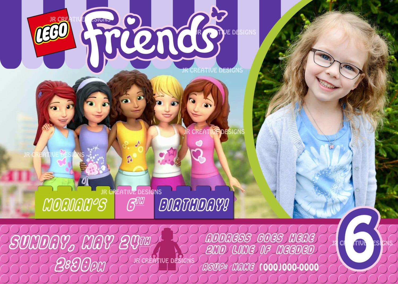 Lego Friends Invitation Lego Friends Invite Lego Invite Lego