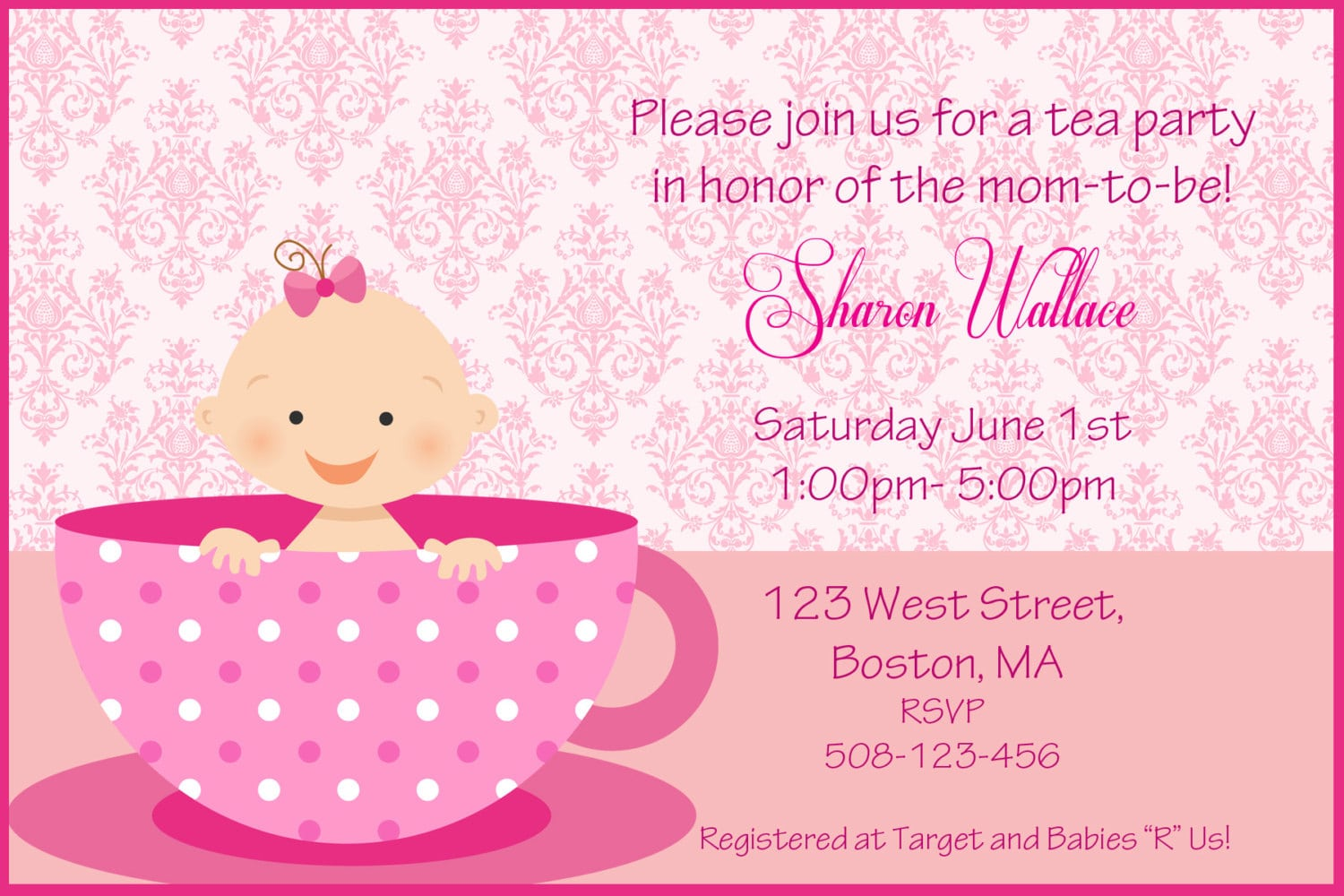 Making Great Tea Party Baby Shower Invitations !