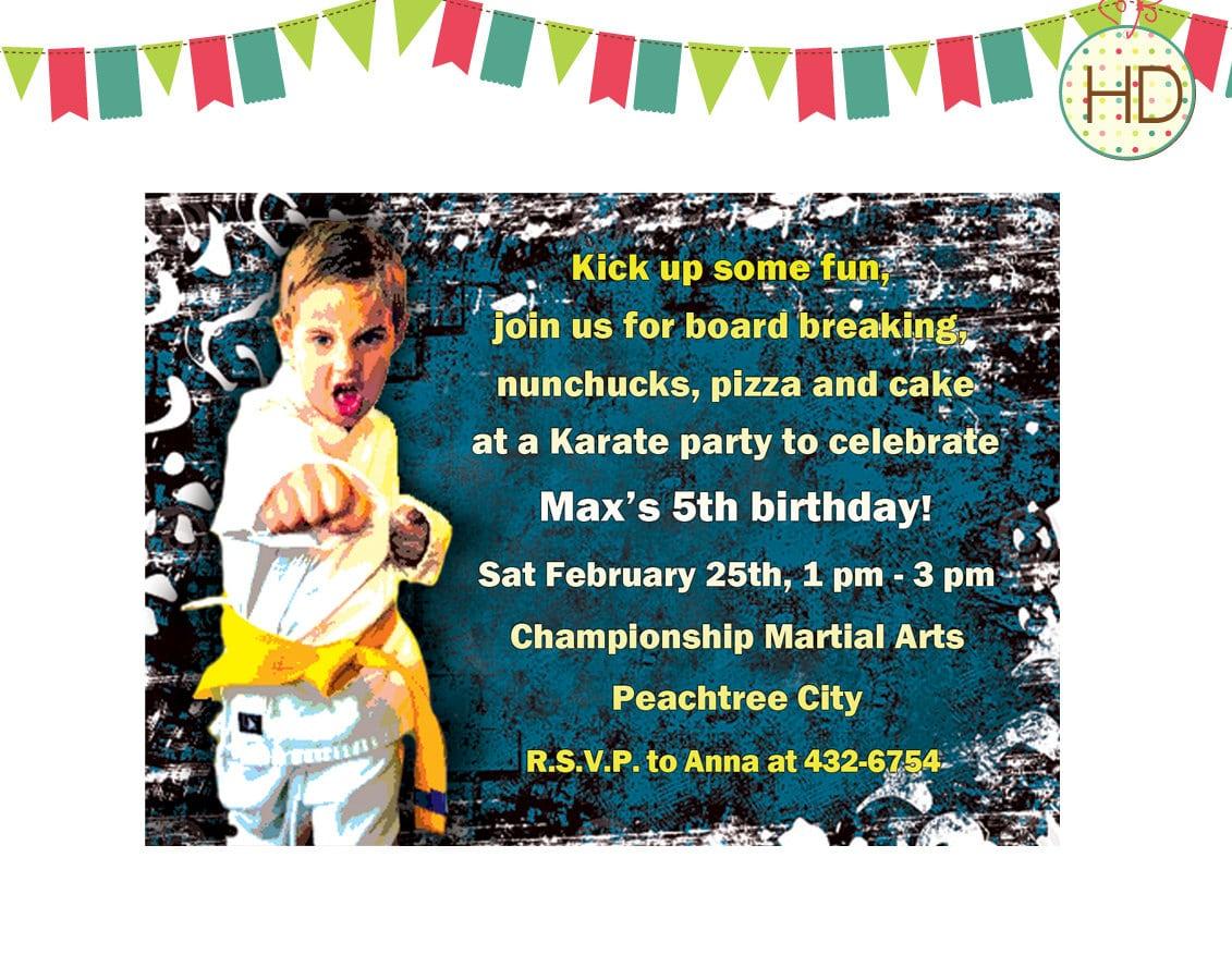Nice Karate Birthday Invitations For Kids Download This Invitation