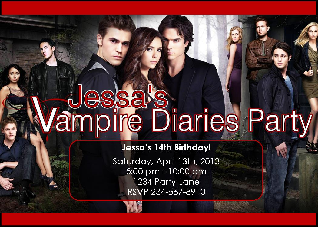 Personalized Vampire Diaries Party Supplies