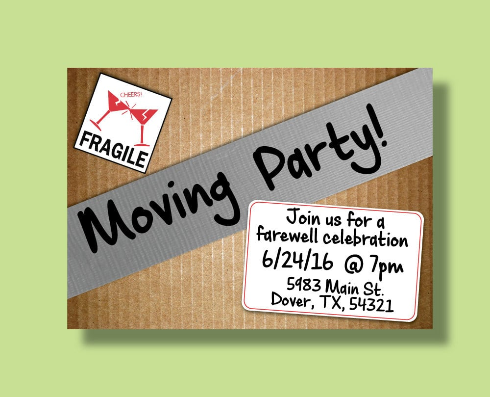 Comfortable Moving Party Invitations Ideas - Invitation Card Ideas ...