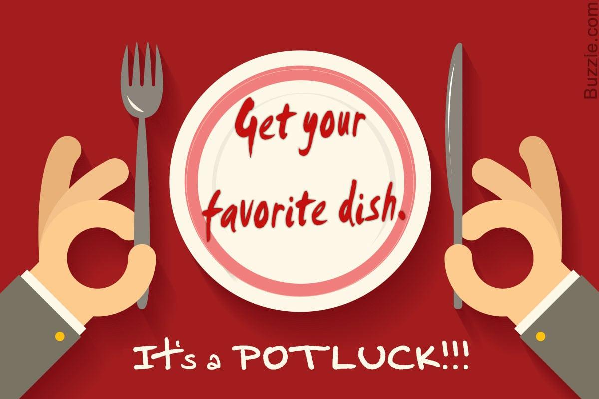 Invitation For Potluck Party