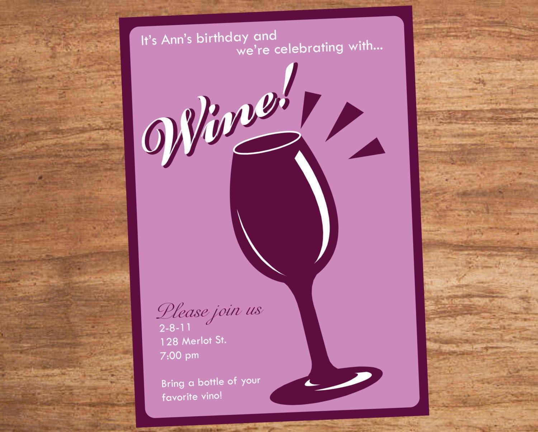 Wine Tasting Party Invitation Wording