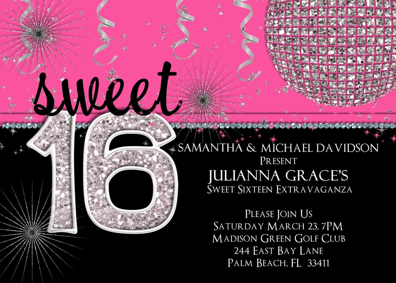 16 Birthday Invitations For Girl